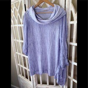 Soft Surroundings lilac mock neck tunic xl